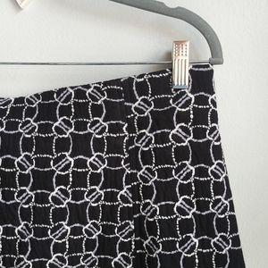 LOFT // Geo Knit Flippy Skirt